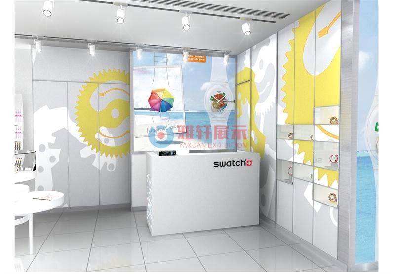 深圳cocopark商场SWATCH手表展柜
